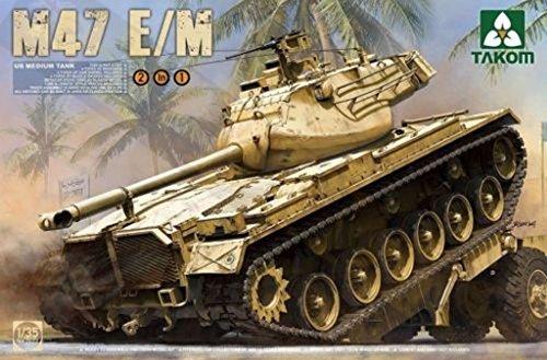 Takom 1:35 M47 E/M Patton US Medium Tank Plastic Model Kit #2072