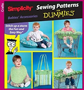Simplicity 3561 Sew Pattern for Dummies BABY ACCESSORIES - Shopping Cart Cover, Pillow Cover, Diaper Bag & more