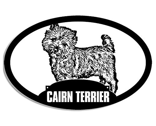 Oval CAIRN TERRIER Silhouette Sticker (dog breed)- Sticker Graphic Decal
