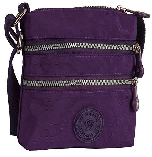 Bag Handbag Fabric Messenger Small Lightweight Shoulder Style Big Size Body 1 Unisex Purple Cross Shop UxwqnBT