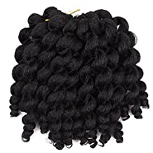 3 packs JUMPY Wand Curl Jamaican Bounce (1#) Crochet Braids Synthetic Hair for women