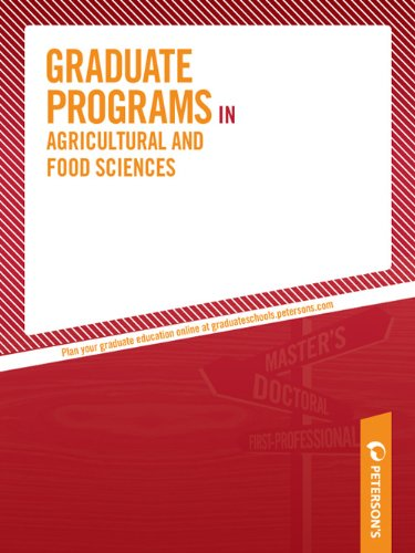 Graduate Programs in Agricultural and Food Sciences