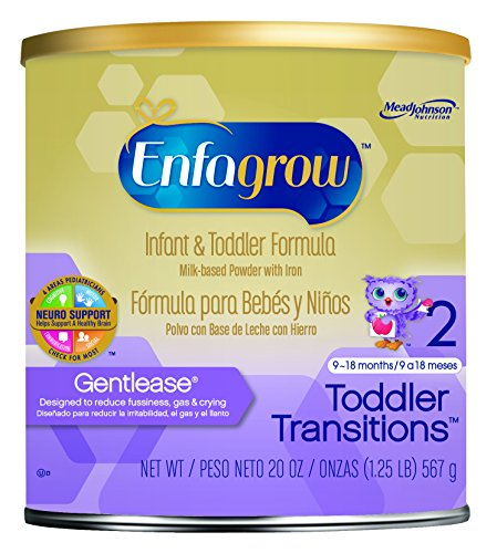 Enfagrow Toddler Transitions Gentlease, Milk-Based Powder with Iron, 20 Ounce