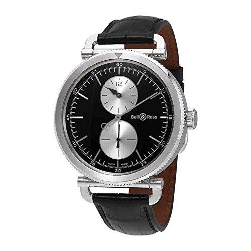 Bell-and-Ross-Vintage-WW2-Regulateur-Officer-Black-Dial-Automatic-Mens-Watch-BRWW2-REG-BSSCR