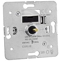 Universal Dreh-Dimmer OBRIUS für dimmbare LED Leuchtmittel, 0-100W (Stift Ø 4mm / 6mm)