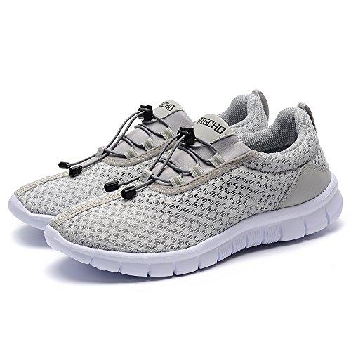 RIGCHO Männer Athletische Laufschuhe Mode Turnschuhe Leichte Atmungsaktive Casual Mesh Weiche Sohle Schuhe Beige