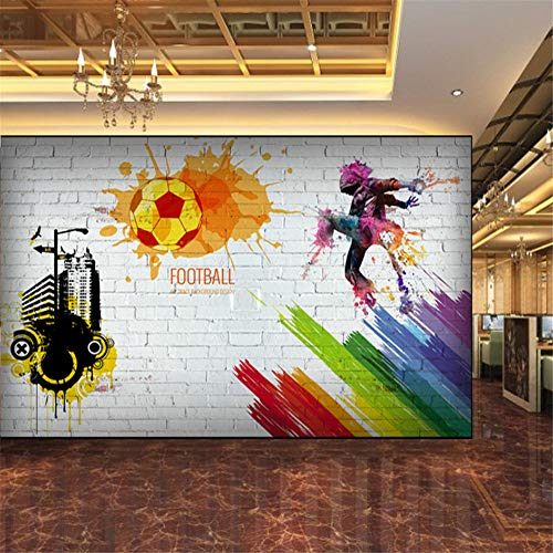 Pbldb Custom Wall Mural Brick Wall City Graffiti Football Basketball Large Murals Bar Restaurant Living Room Decor Non-Woven Wallpaper-400X280Cm by Pbldb (Image #1)