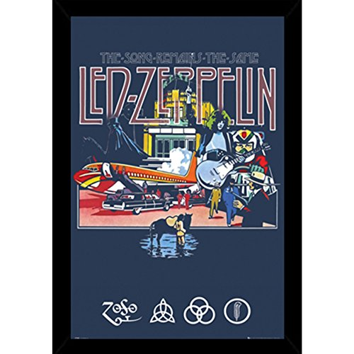 Led Zeppelin - Remains Poster in a Black Wood Frame  24618-P