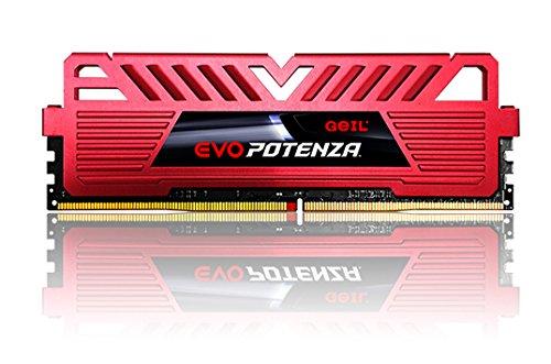 GeIL 8GB (2 x 4GB) EVO POTENZA DDR4 PC4-19200 2400MHz 288-Pin Intel Z170 Intel X99 Desktop Memory Model GPR48GB2400C15DC 2 Sdram Memory