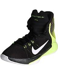 Nike Kids Flex Experience 4 (GS) Running Shoe-Black/White/Volt