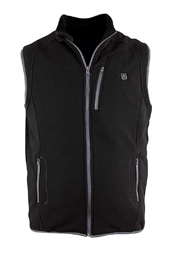 Prosmart Heated Vest Polar Fleece Lightweight Waistcoat with USB Battery Pack(L) best heated vest for men