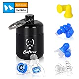 High Fidelity Earplugs with Filters, Reusable Silicone Hearing Protection Sound Cancelling Concert No Noise Foam Ear Plugs for Sleeping, Musicians, Swimming, Snoring, Shooting, Motorcycle (4 Pairs)