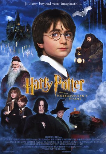 Costume Film Noir In (Harry Potter and the Sorcerer's Stone Movie Poster (11 x 17 Inches - 28cm x 44cm) (2001) Style B -(Daniel Radcliffe)(Rupert Grint)(Emma Watson)(Robbie Coltrane)(Richard Harris)(Maggie)