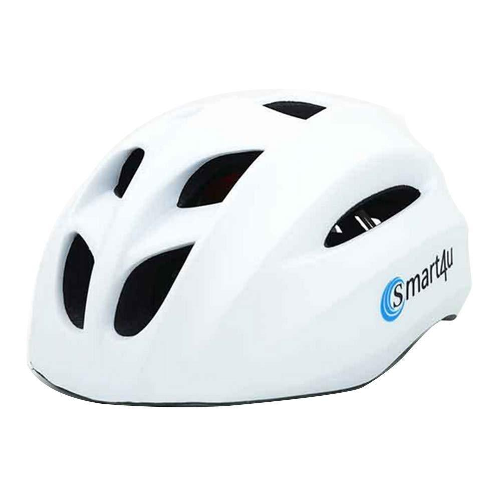 Intelligenter Fahrradhelm, Blautooth-Mountainbike-Fahrradhelm, Blautooth-Lautsprecher, Eingebautes Mikrofon, Musik Und Anruf, CE-Zertifizierung 58-62 cm,Weiß