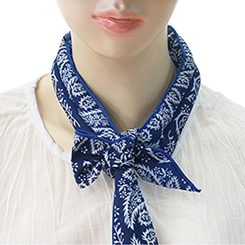 The Elixir Bandanna ICE Scarf Neck Wrap Cooling Scarf Solid Color Cool Blue