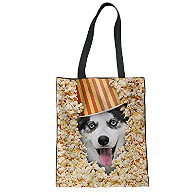 CHAQLIN Puppy Heavy Duty Tote Bag Resuable Grocery Kitchen Storage Organizer best