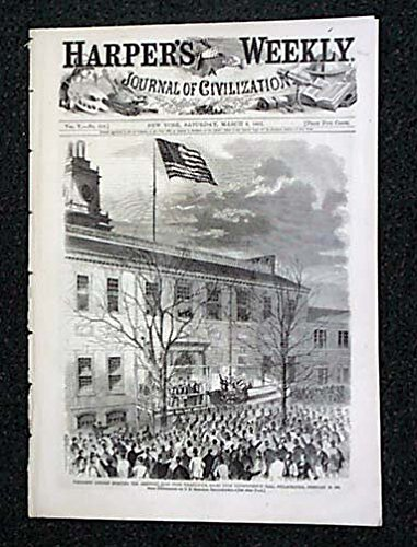 Image of the entire cover of the March 9, 1861, Harper's Magazine,