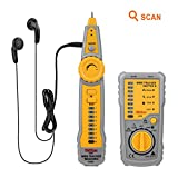 Tacklife CT01 Classic Wire Tracker RJ11 RJ45 Line Finder Cable Tester for Network Cable Collation, Telephone Line Test, Continuity Checking, Low Battery Capacity Indication