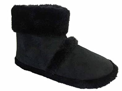New Mens Cooler Brand Snugg Microsuede Boot Slipper Thick Fluffy ...