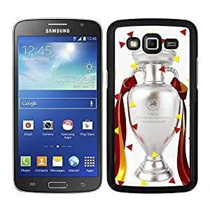 Funda carcasa para Samsung Galaxy Grand 2 diseño trofeo Eurocopa Francia 2016 borde negro