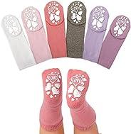 Anole Newborn & Infant Baby Socks - 6 Pairs - Cozy Warm Winter Socks - Knee High Boys Girls Co