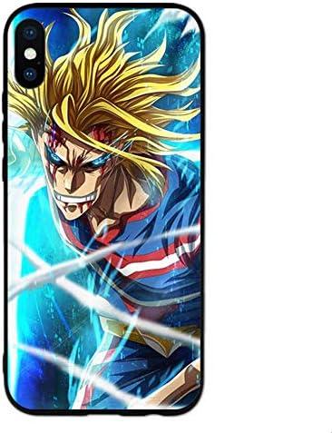 僕のヒーローアカデミアiPhoneケース,ジャパンアニメオールマイト かっこいい強化ガラス防護保護カバーiphone11pro XS 7 8 アニメファン