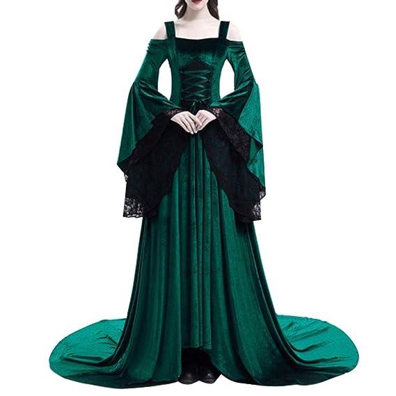 GladiolusA Disfraz Traje Medieval para Mujer Gótico Vintage ...