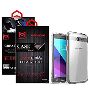 Margoun for Samsung Galaxy J3 Emerge Case Soft Clear TPU Back Cover Protection Case - Transparent Clear