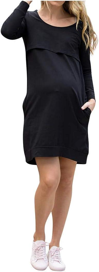 Vestidos para Premamá Color Solido Vestidos Mujer Casual ...