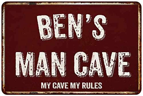 SMNS0159 BILL Street Chic Sign Home Man Cave Wall Decor Birthday Gift