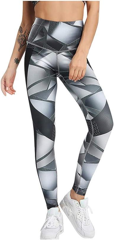 LANSKIRT/_Pantalones Deportivo de Mujer con Bolsillos Pantalones Cintura Alta Leggings Mallas para Running Training Fitness Estiramiento Yoga y Pilates