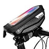 JOSPOWER Bicycle Bag Bike Frame Bag Top Tube Phone Bags Sensitive Touch Screen Waterproof Handlebar Front Phone Frame Bag Holder for Cellphone Below 6.2 Inch