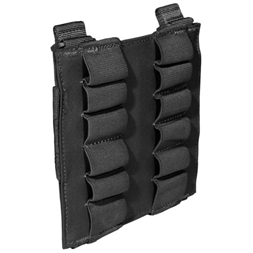 (5.11 Tactical 12-Round Shotgun Pouch, Waterproof Coating, Secure Elastic Band Slots, Style 56165)