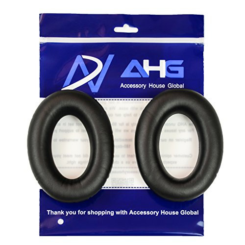 Replacement Ear Pads for Sennheiser HD545 HD565 HD580 HD600 and HD650 Headphones (Black Protein Leather)