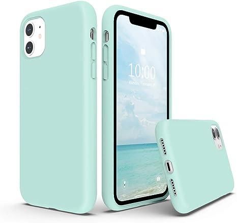 SURPHY Cover Compatibile con iPhone 11, Custodia per iPhone 11 Silicone Liquido Cover Antiurto con Fodera in Microfibra, Full Body Protettiva Case per ...