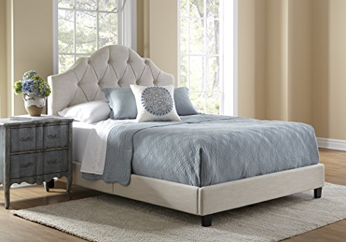 Pulaski Mason All-in-1 Fully Upholstery Tuft Saddle Bed, Queen - Front Door Clear Hinged