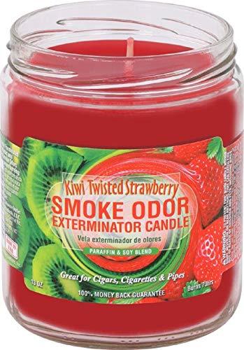 Smoke Odor Exterminator 13 oz Jar Candles, Kiwi Twisted Strawberry, Pack of 2 (Twisted Smoke)