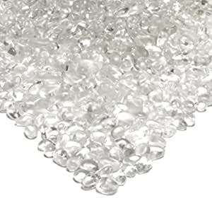 Real Flame Fire Glass Filler, Ice Clear Pebbles