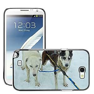 Super Stellar Slim PC Hard Case Cover Skin Armor Shell Protection // M00126275 Sled Dogs Alaska Dog Sled Sled Dogs // Samsung Galaxy Note 2 II N7100