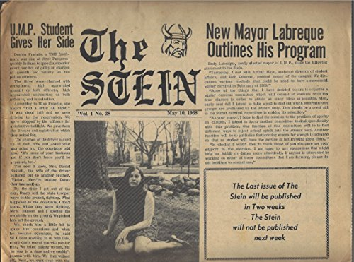 The Stein Vol. 1 N° 28, May 10, 1968 (Univ. of Maine in Portland Student - In Portland Singles Maine