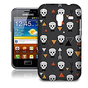 Phone Case For Samsung Galaxy Ace Plus S7500 - Geometric Skulls Hard Slim