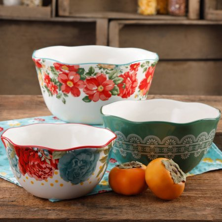 The Pioneer Woman Vintage Floral 3-Piece Nesting Bowl Set 116007.03R