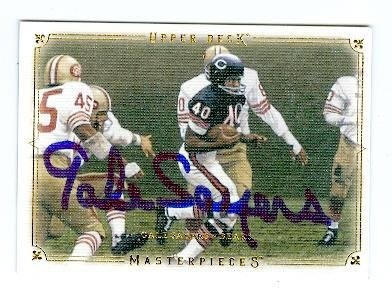 Gale Sayers autographed Football Card (Chicago Bears) 2008 Upper Deck Masterpieces - Chicago 37