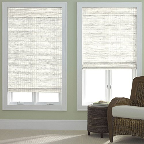 - Window Blind Store Bamboo Roman Shade Whitewash 23x64