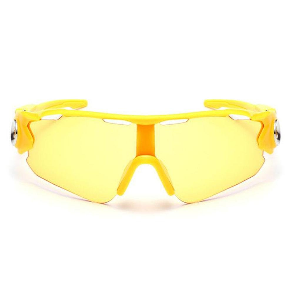 Z&YQ Sonnenbrillen winddichte Brillen explosionsgeschützte Spiegel Reitbrille Sport Outdoor Sonnenbrille , yellow framed tablets