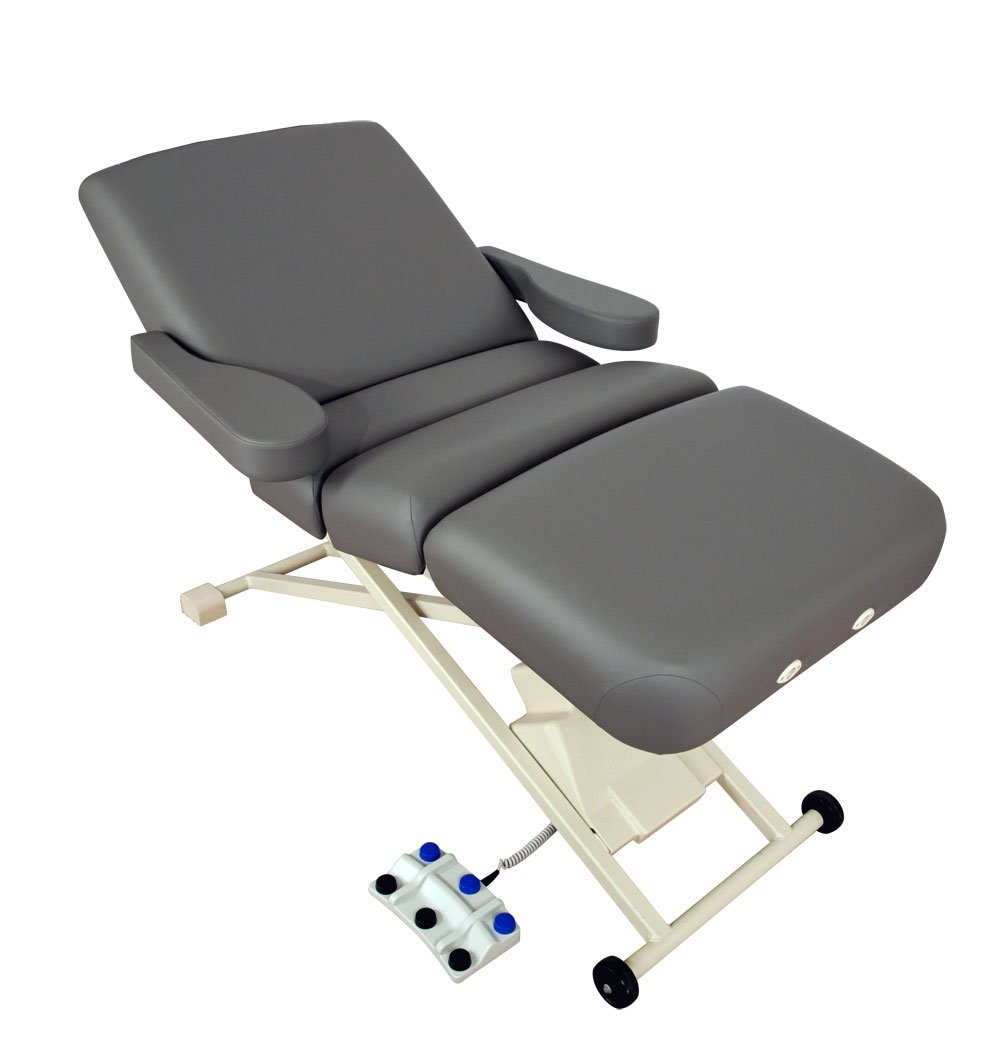 Oakworks PKG7119-T26 Proluxe Electric Salon Top, Pure White Upholstery