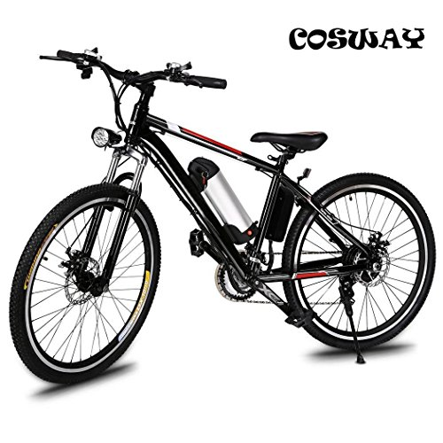 Speed Electric Mountain Bicycle with 26' Fat Tire Suspension Fork and 36V Lithium-ion Battery [US STOCK]