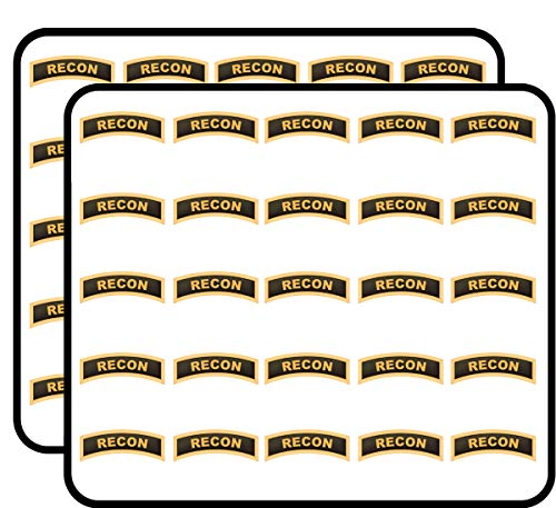 - U.S. Army Recon Tab 50 Pack Sticker for Scrapbooking, Calendars, Arts, Album, Bullet Journals and More 1