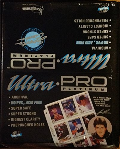 (Ultra Pro PLATINUM SERIES 9-Pocket Trading Card Pages (250 Page Bulk Factory Sealed Box))