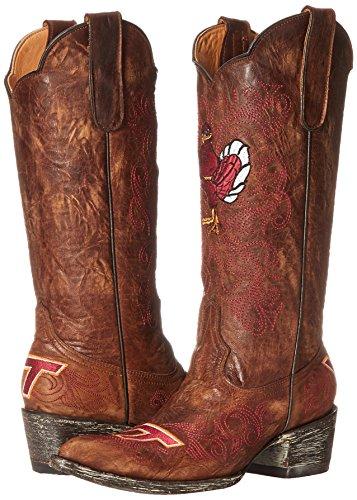 Women's NCAA Boots Brass Virginia Inch 13 Tech Hokies Gameday qHBZrtHc